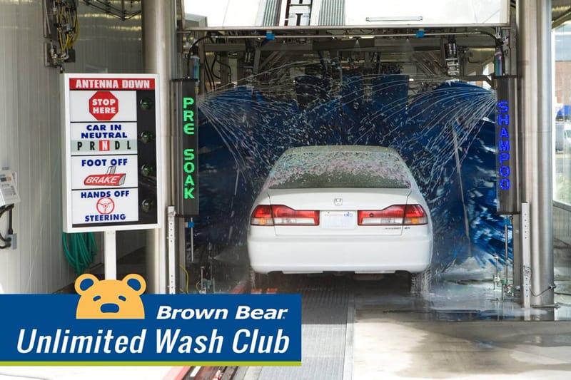 Brown Bear Unlimited Car Wash Club