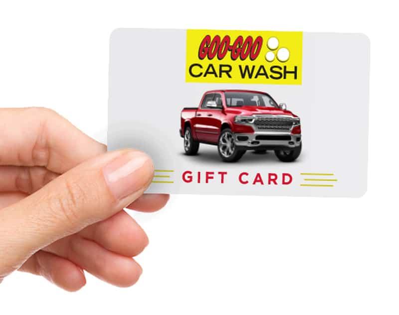 Goo Goo Car Wash Gift Cards