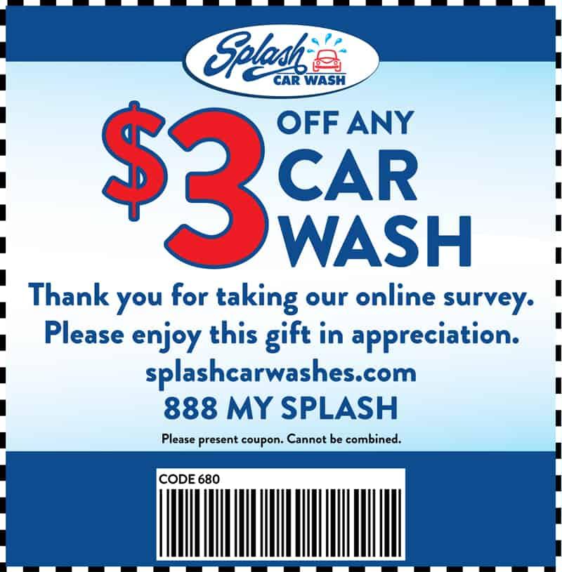 Splash Car Wash Coupons