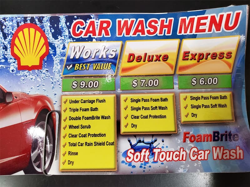 Shell Car Wash Prices