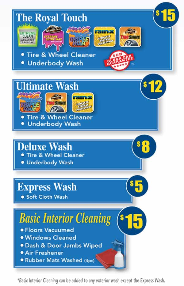Royal Touch Car Wash Prices